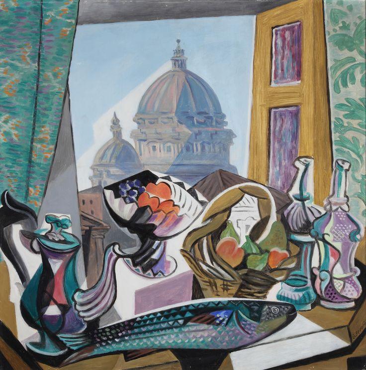 Gino Severini - Natura morta con cupola di San Pietro