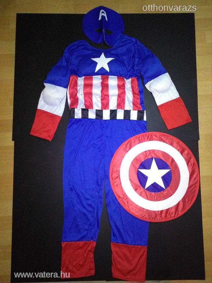 Új Amerika kapitány Marvel hős fiú gyerek farsangi kosztüm szuperhős filmhős film jelmez 2 méretben