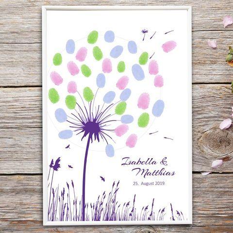 Fingerabdrucke Hochzeit Pusteblume Als Gastebuch Alternative Fingerabdruck Hochzeit Hochzeitsbuch Und Gastebuch Hochzeit Kaufen