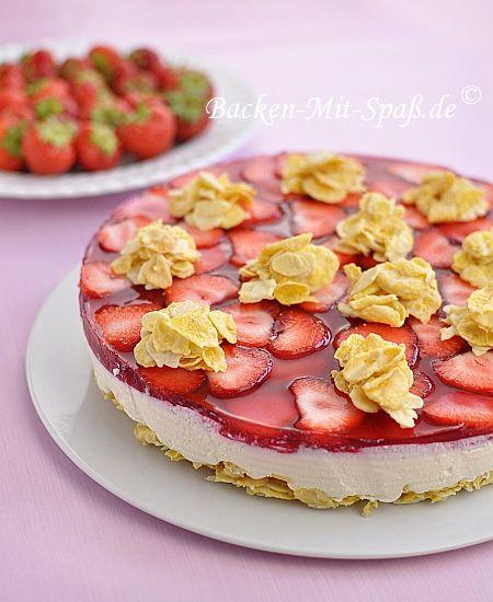 Erdbeer-Cornflakes-Torte