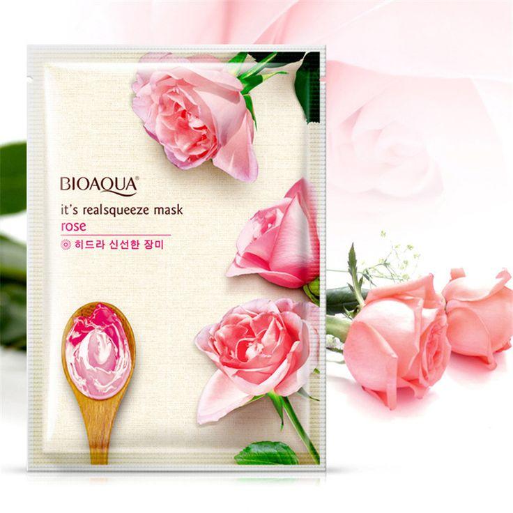 BIOAQUA Rose Gezichtsmasker Glad Hydraterende Gezichtsmasker Olie Controle Hydrating Voedende Krimpen Poriën Peel Masker Huidverzorging