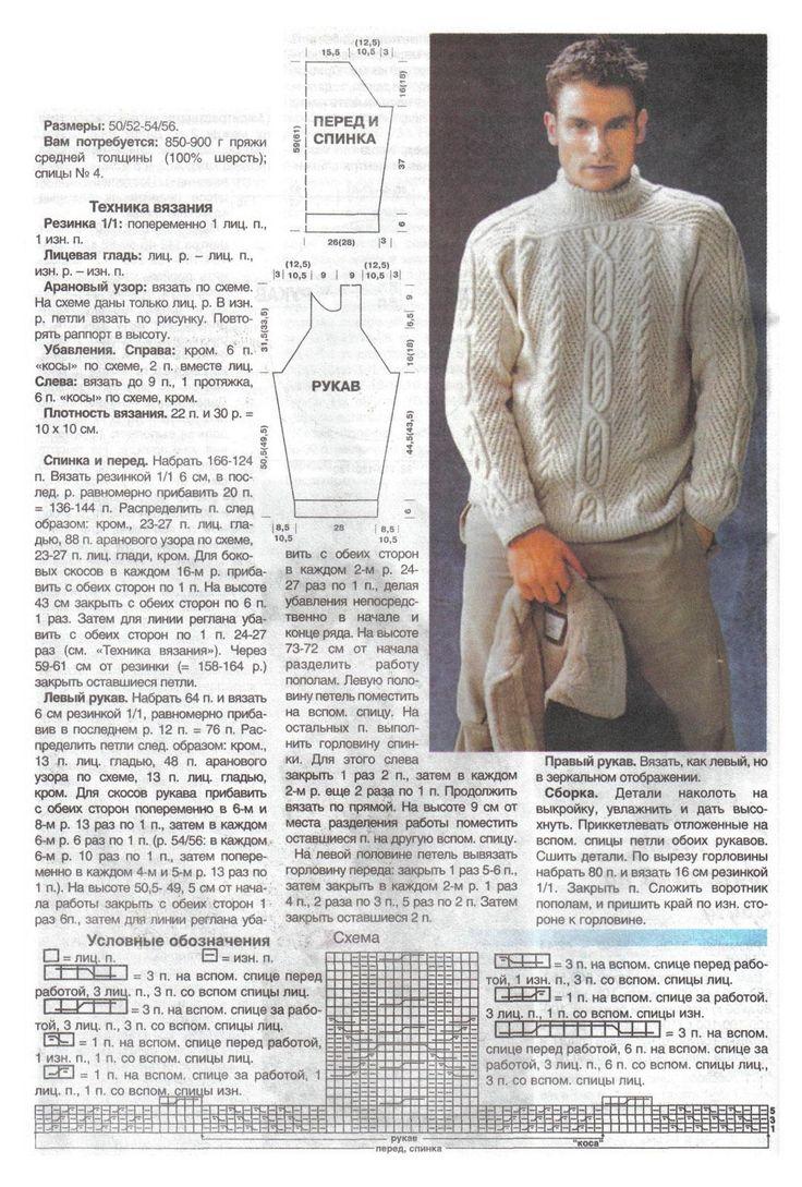 образом, самый рисунки для мужских свитеров спицами со схемами и описанием черная велой