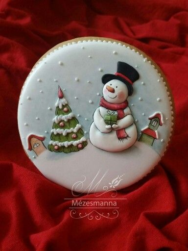 Mezesmanna: Snowman in the snow. Christmas.                                                                                                                                                      More