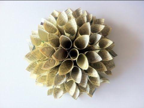 """▶ Tutorial DIY """"Cómo hacer una flor dalia de papel"""" - YouTube"""