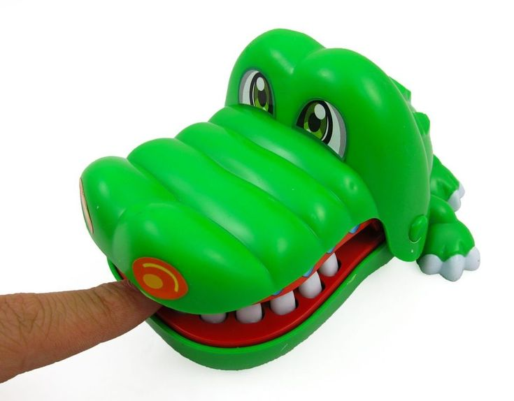 Crocodile Dentist Game Fun Filled Activity Trending Finger Snapper Green NEW #Generic