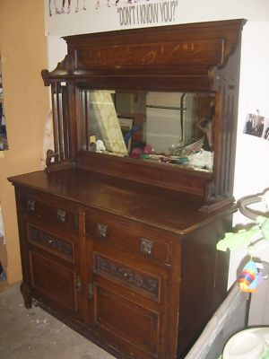 antique english oak sideboard 1