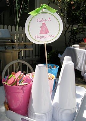 cheer party: make a megaphone.. i am thinking about doing a different fund raiser and this woul dbe really cool for it!