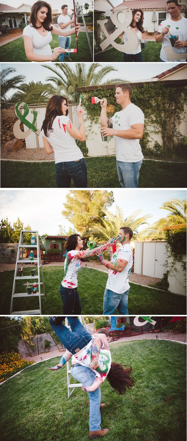 Paint Fight Engagement Session