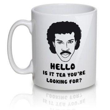 *cacklesnort*  Lionel Richtea Mug - Hello is it tea you're looking for?