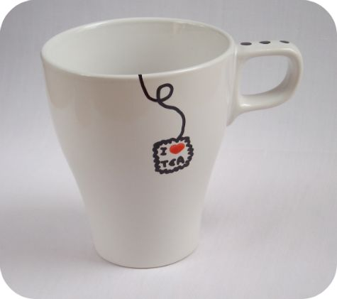 """Taza """"I ♥ Tea"""""""