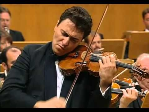 Sibelius, Violin Concerto. MAXIM VENGEROV,  with the Chicago Symphony Orchestra conducted by Daniel Barenboim. Taped in Cologne, Germany, 1997. Many consider him the current champ of the instrument. This performance has the power and assurance of Heifetz and the sweetness of Kreisler. It's not my favorite interpretation; he seems to master all the individual  effects but not the long line. This is power playing; a performance built of beautiful parts. Still, amazing virtuosity. (KevinR@Ky)