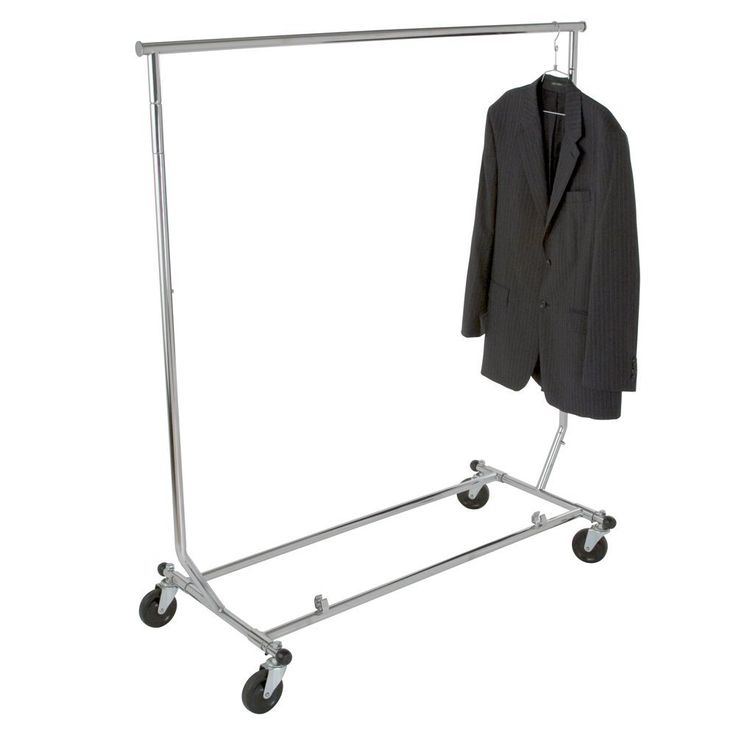 Amazon.com: Econoco Heavy Duty Collapsible Clothing Rack | Round Tubing Rolling Rack: Industrial & Scientific