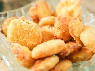 """Fried Pickles with Cajun Aioli (Halftime Ham Sandwich) - Damaris Phillips, """"Southern at Heart"""" on the Food Network."""
