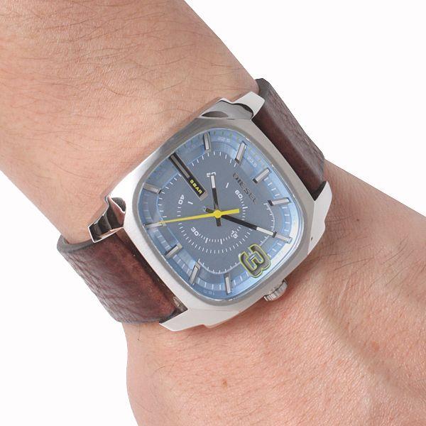 Diesel mens blue dial leather analog quartz watches DZ1654 #Diesel #Watches #wristwatch