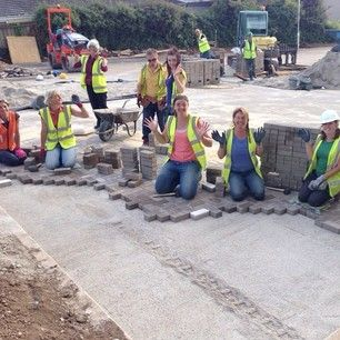 Laying thousands of blocks for the Newquay, UK Kingdom Hall parking lot. Photo shared by @pauldebbiebazeley Submit your photos etc…
