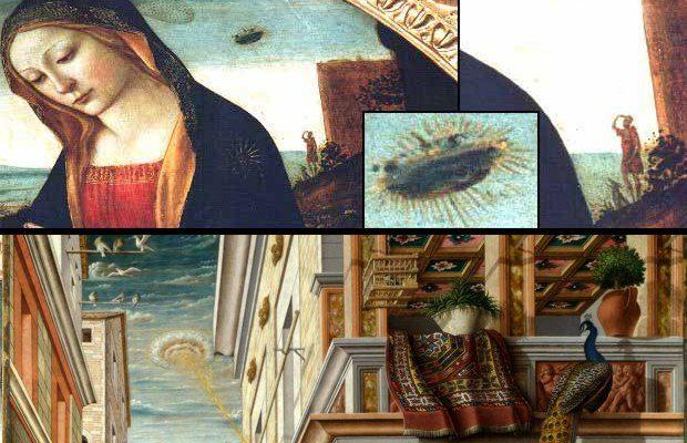 QUANDO GLI UFO INVASERO L'ARTE RINASCIMENTALE Molti dipinti di epoca medievale e rinascimentale sembrano raffigurare strani oggetti che agli occhi di un moderno somigliano ai cosiddetti UFO. Si tratta di testimonianze di antichi avvistamenti, o solo rappresentazioni religiose di eventi divini?