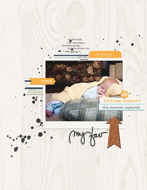1 photo + tabs + paintScraplifting, Scrapbook Layout