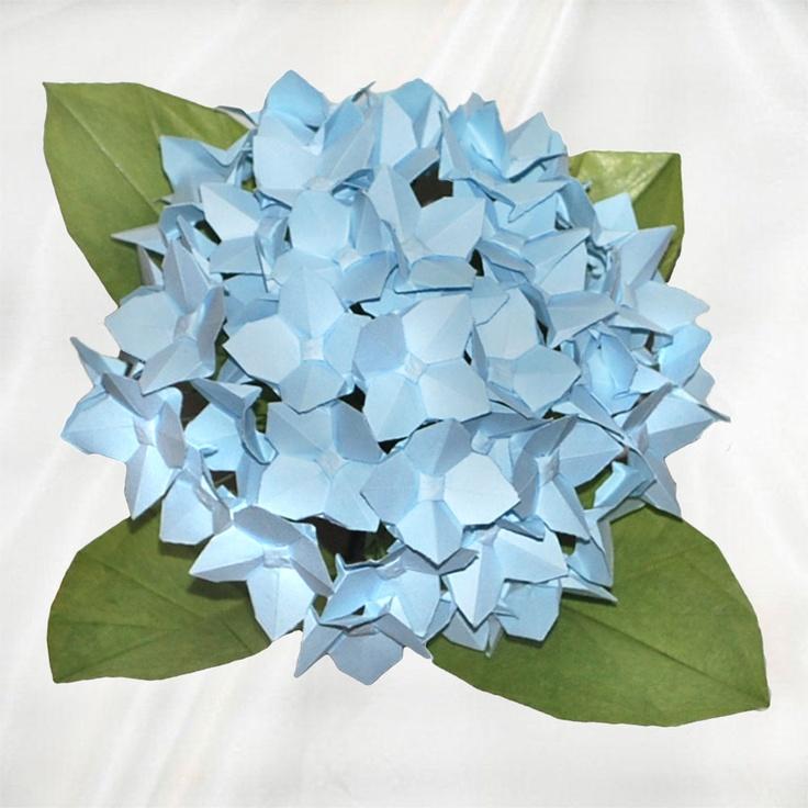 39 Best Single Origami Flowers Images Rh Com Flower Hydrangea Shuzo Fujimoto Diagram