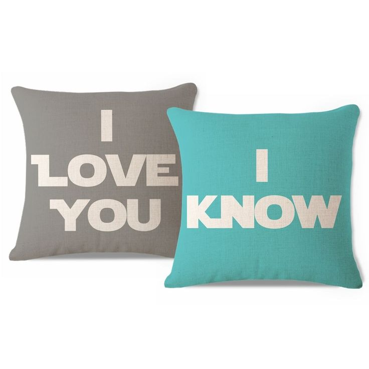 His and Her Star Wars Love Script Gift Throw Pillow Case Sofa Cushion Cover Set Home Decor - Chinahof on eBay  #homedecor  #starwars