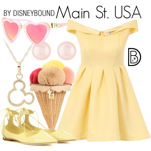 A fashion look from February 2017 by leslieakay featuring Chi Chi, Jimmy Choo, Dolce&Gabbana, Henri Bendel, disney, disneybound and disneycharacter