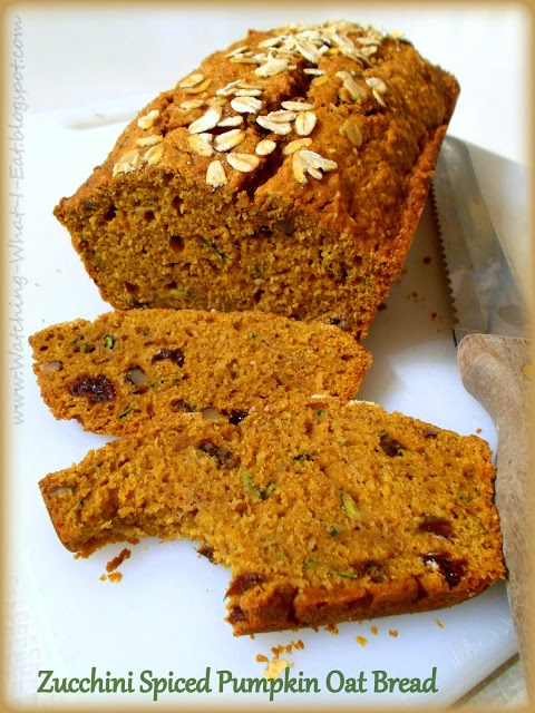 Zucchini Spiced Pumpkin Oat Bread.   Sugar Rush!   Pinterest