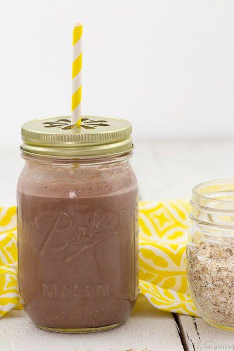 Smoothie Frühstück gesund Haferflocken Schokolade