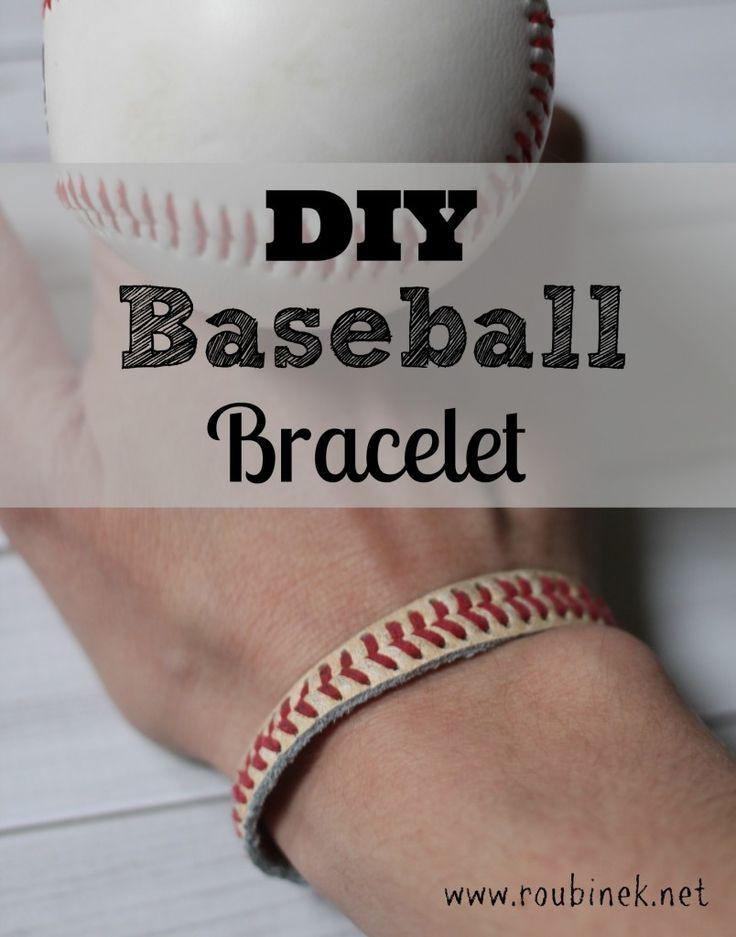 DIY Baseball Bracelet Tutorial - Roubinek Reality