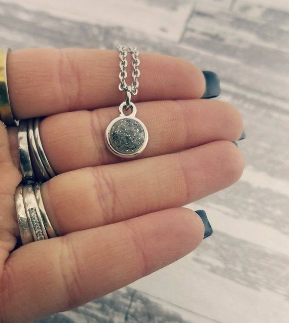Urn Necklace with Ashes Cremation Pendant Custom Ash Memorial ~ Cremation Jewelry ~ Cremains ~ Pet Memorial Bereavement ~ Pet Loss Ring