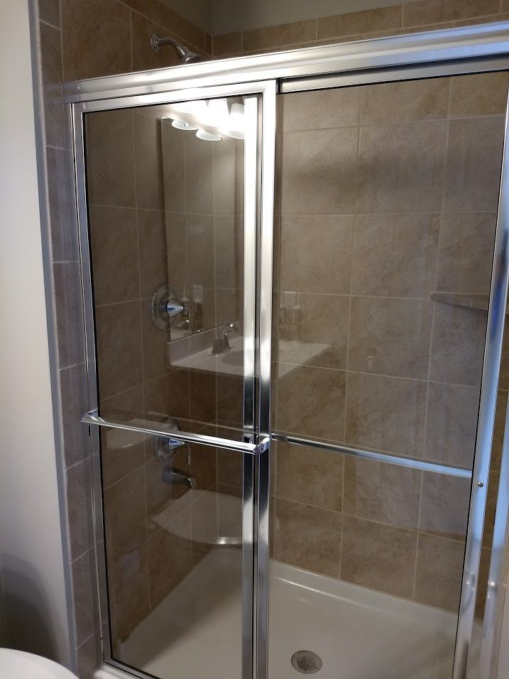 Chrome Trim And Clear Glass Shower Doors Clear Glass Shower Door Shower Doors Glass Shower Doors