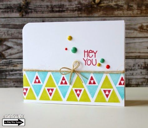 Tracy Mae Design: Hey You || The Alley Way Stamps, TAWS, clear stamps, stamping, card, Tri-Me