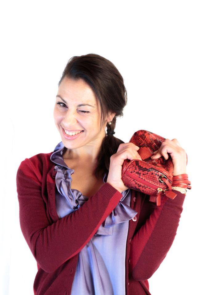 Piton red clutch