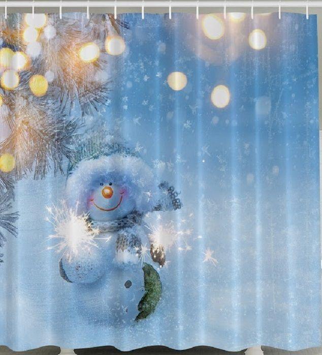Mer enn 25 bra ideer om Christmas shower curtains på Pinterest ...