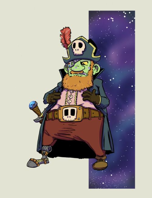 Captain Kerone - One fearful Space Pirate