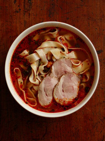 ほうとう:石垣島ラー油&パセリ&茹でスモークローストポーク(Noodle)