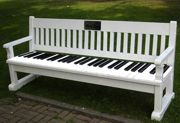 Piano Keyboard Park Bench Music Rooms Musical Adornments Pinterest