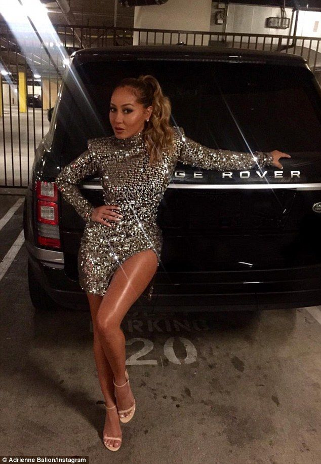 Last looks: Adrienne took to Instagram and shared a pic of herself in the parking lot befo...