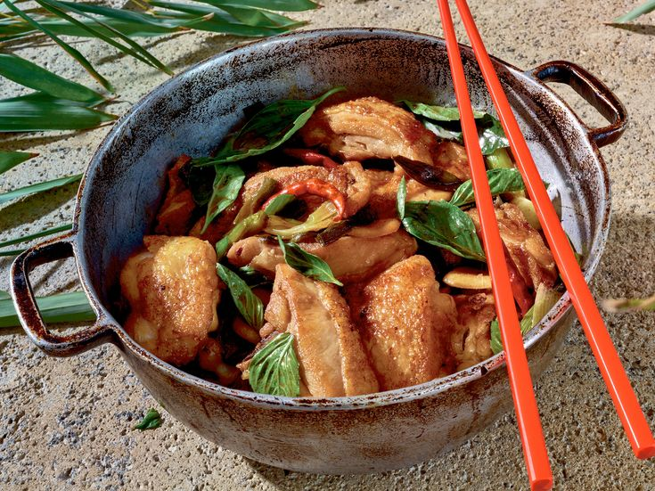Ask 30 people how to make this simple Taiwanese recipe, and you'll receive 30 different responses Some fry the chicken before braising it, use more oil, less wine, different blends of soy sauce Debates rage over how thick the sauce should be, over which parts of the chicken to use