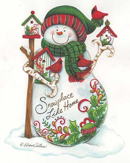 Colorful Snowman With A Cute Sentiment