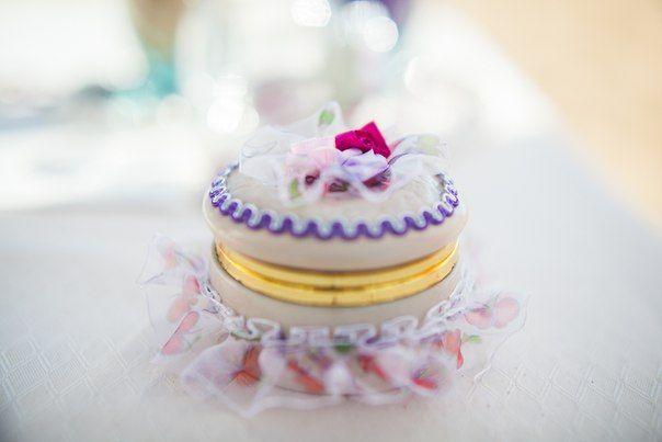 Свадьба в Доминикане (Weddings in the Dominican Republic); Шкатулка для обручальных колец в кружевах (Jewelry box for wedding rings in lace)
