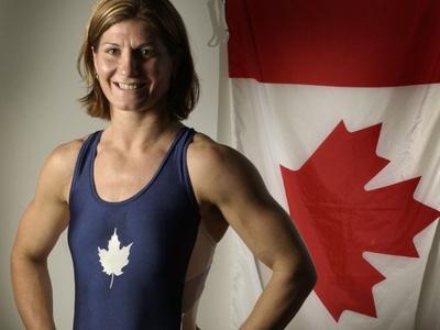 Silver Medalist: Tonya Verbeek Women's 55-kilogram Wrestling Event