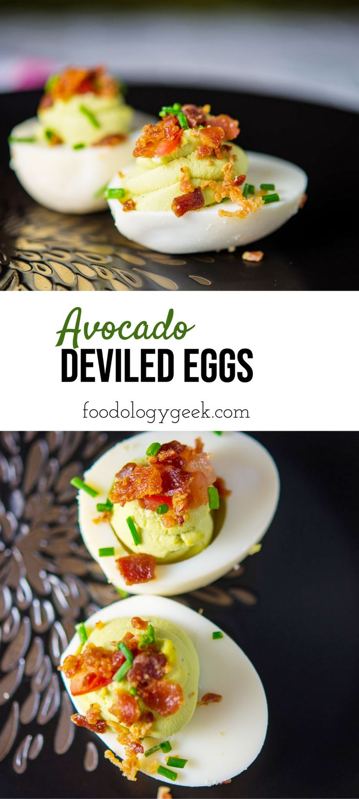 Jun 14, 2020 – Protein and healthy fats in this classic deviled egg recipe. Swap out the mayo for avocado! Top with cris…
