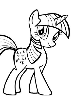 my little pony twilight sparkl coloring pages for kids