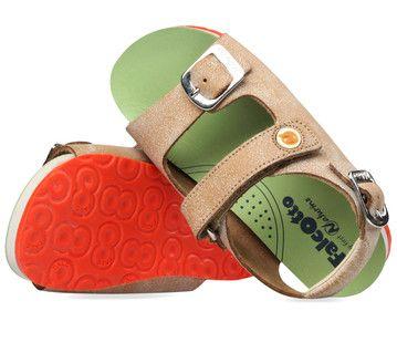 Bruine Naturino kinderschoenen Falcotto 1407 sandalen