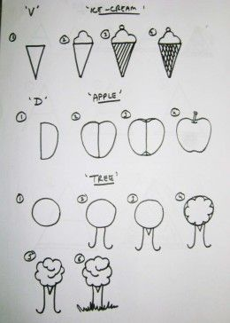 how to start teaching drawing to kids - Small Drawings For Kids