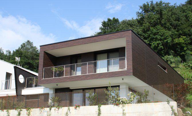 Vista esterna villa a Paratico - progetto di architettura