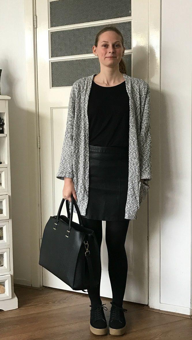 Oversized Grey Cardigan - Sketch & Style