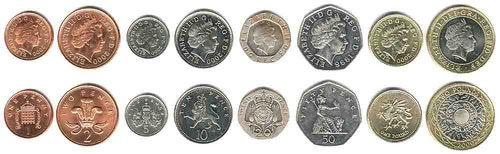 These coins are currently circulating in Great Britain as money.