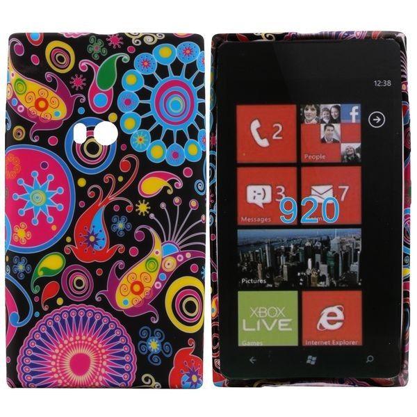 Symphony (Värikäs Ympyrä) Nokia Lumia 920 Silikonisuojus