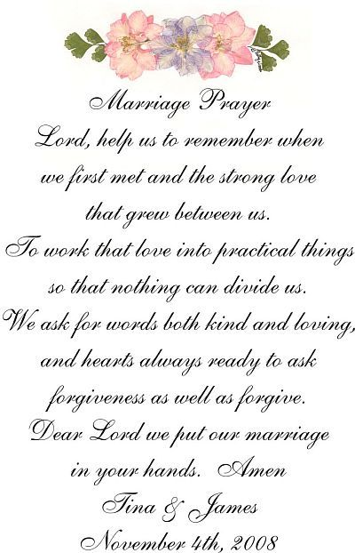 Marriage Prayer With Names And Date Of I Should Make This Hang It