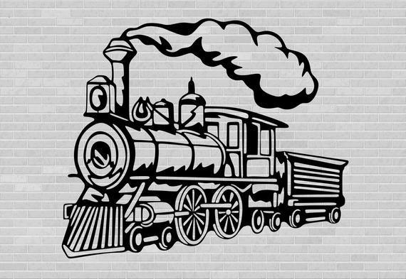 Train Clipart Train Svg Vector Clipart Vintage Train Etsy In 2021 Train Clipart Train Drawing Clip Art Vintage